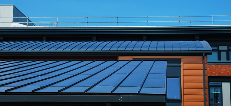 solar panels on active office