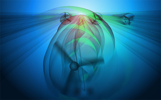 computational image of a tidal turbine