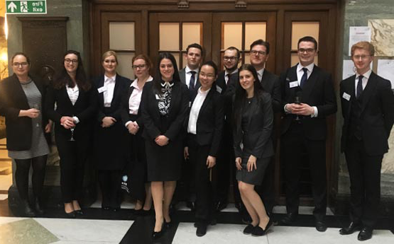 a group of our students prior to a mooting competition