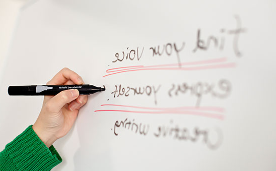 Writing on a board