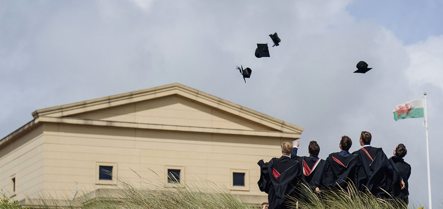 Students celebrate graduating at Swansea University