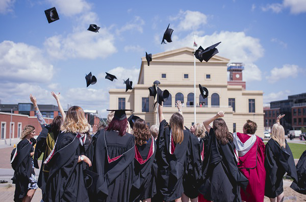 Image of students at graduation