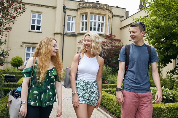 Image of students outside the abbey