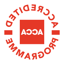 该 Association for Chartered Certified Accountants (ACCA) logo