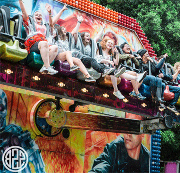 Students on a ride at summer ball